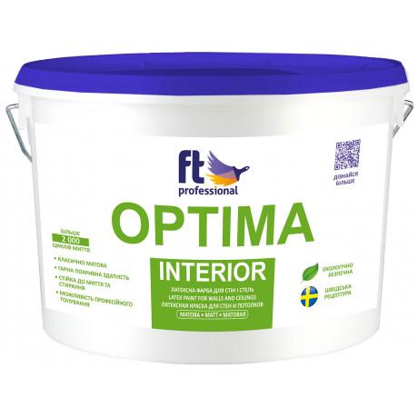 Краска латексная для стен и потолков FT Professional Optima Interior