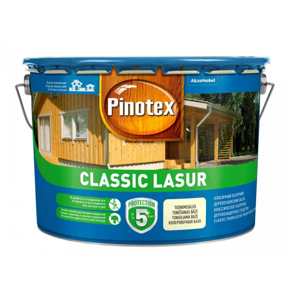 Пропитка для защиты деревянных поверхностей Pinotex Classic Lasur