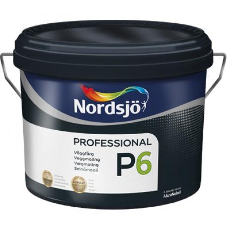 Износостойкая акриловая краска Sadolin  Nordsjo Professional P6 Белая