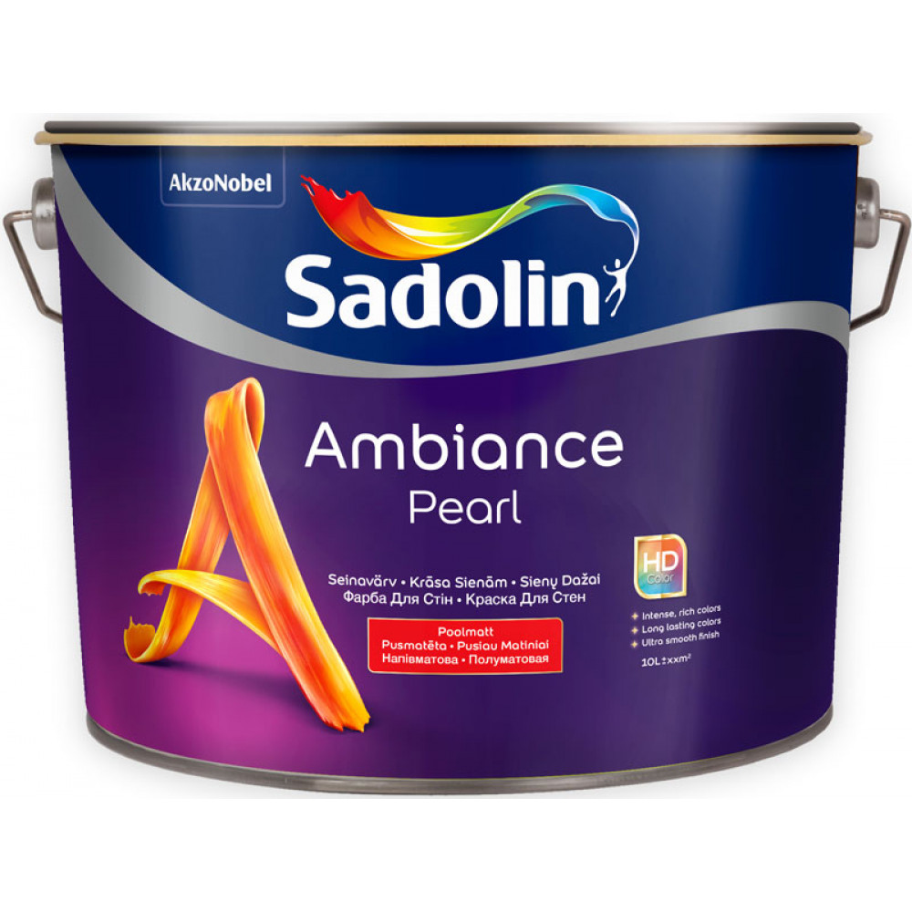 Моющаяся полуматовая краска Sadolin Ambiance Pearl