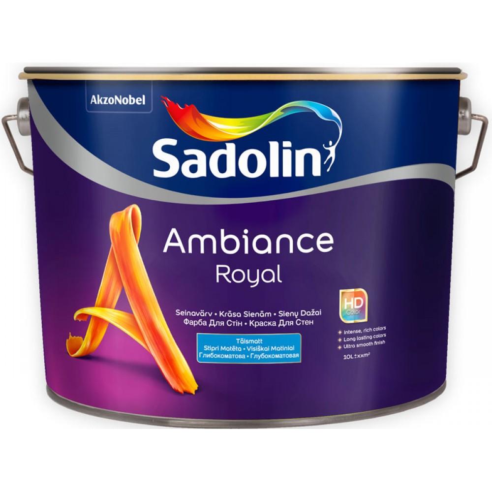 Моющаяся глубокоматовая краска Sadolin Ambiance Royal